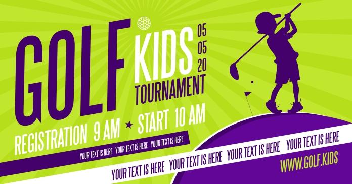 Kids Golf Banner Template Postermywall