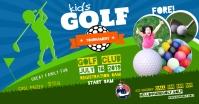 KIDS GOLF TOURNAMENT BANNER Gambar Bersama Facebook template