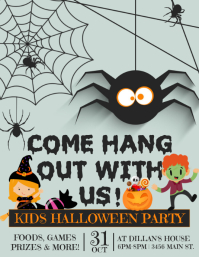 Kids Halloween Flyer (US Letter) template