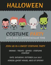 Kids Halloween Flyer Template