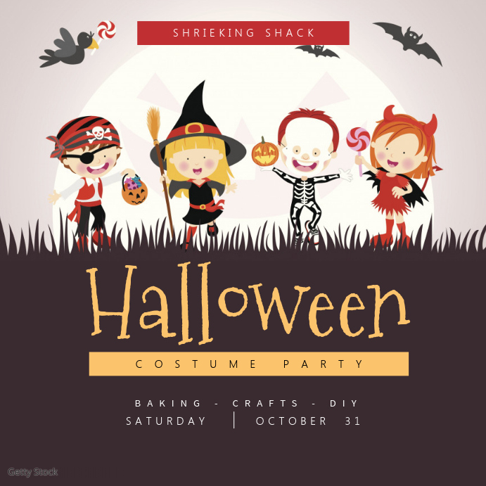 kids halloween instagram template
