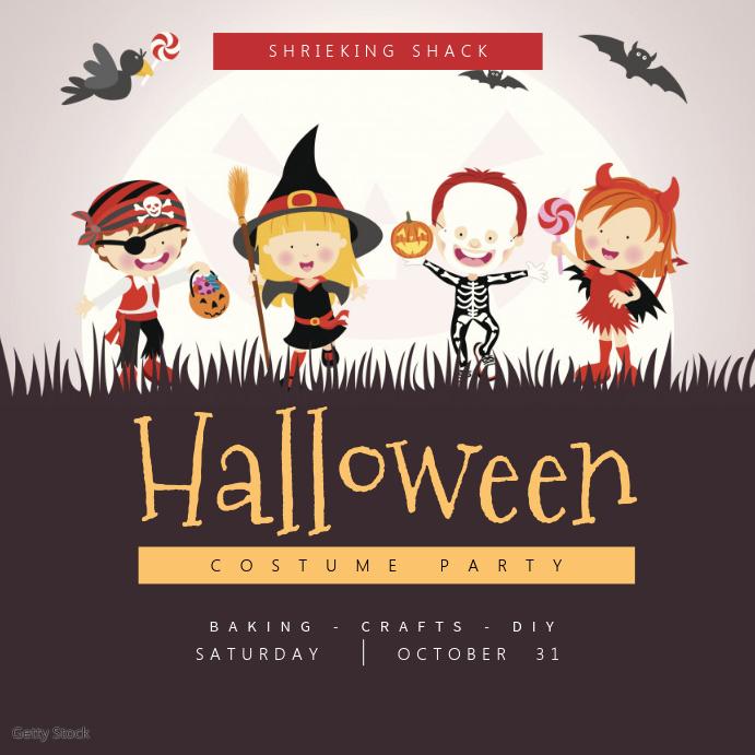 Kids Halloween Instagram Template Instagram-opslag