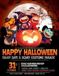 kids Halloween parade Pamflet (VSA Brief) template