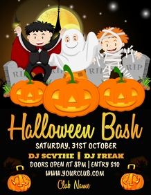 kids halloween party, halloween flyer