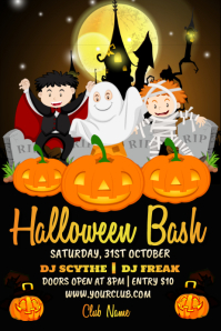 kids halloween party, halloween poster