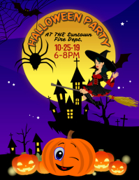 Kids Halloween Party Event Flyer