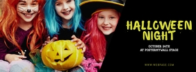 kids Halloween Party Facebook Cover template