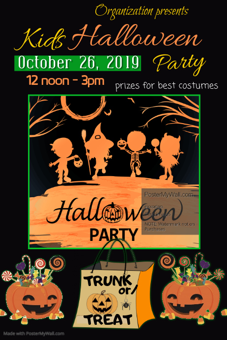Kids Halloween Party Poster