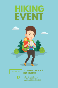 Kids Hiking Camp scouts Flyer Template