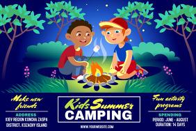 Kids Holiday Camping Poster