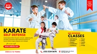 Kids Karate Class Ad Vídeo de portada de Facebook (16:9) template