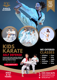 Kids Karate Class Flyer A4 template