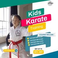 Kids karate Instagram template
