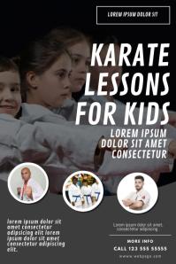 Kids karate lessons flyer design template Poster