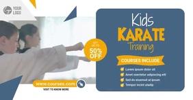 Kids Karate School Facebook Shared Image template
