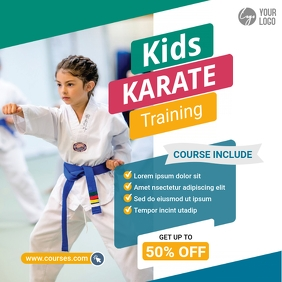 Kids Karate School post Publicação no Instagram template