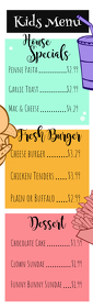 Kids Long Menu Template