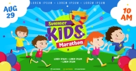 KIDS MARATHON BANNER Facebook Shared Image template