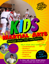 Kids Martial Arts Flyer Folheto (US Letter) template
