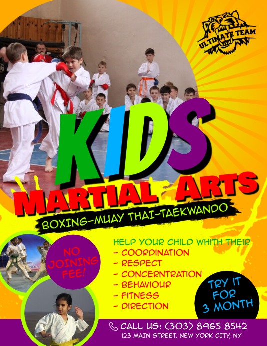 Kids Martial Arts Flyer