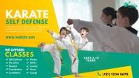 Kids Martial Arts Lessons Ad Video Sampul Facebook (16:9) template