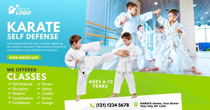 Kids Martial Arts Lessons Ad Gambar Bersama Facebook template