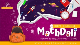 Kids Math Learning Channel YouTube Banner