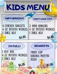 Kids Menu Flyer (US Letter) template