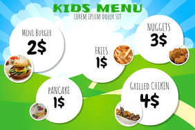 Kids Menu Template  Kids Menu Templates