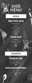 Kids Menu Template chalk chalkboard