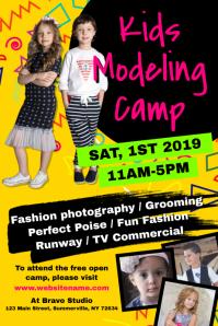 Kids Modeling Camp Poster