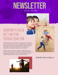 Kids Newsletter Folheto (US Letter) template