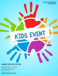 Kids painting event flyer template