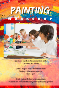 Kids painting workshop poster
