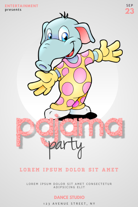 kids pajama party flyer template postermywall