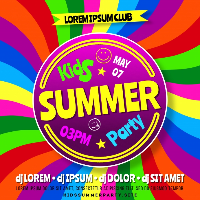 KIDS PARTY BANNER Pos Instagram template