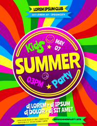 KIDS PARTY FLYER Ulotka (US Letter) template
