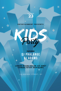 kids Party Flyer Design Template