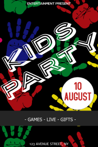 Kids Party flyer template