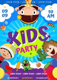 KIDS PARTY POSTER A4 template