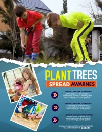 kids planting campaign, environmental day Flyer (Letter pang-US) template