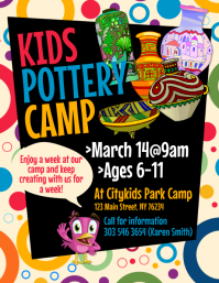 Kids Pottery Camp Flyer