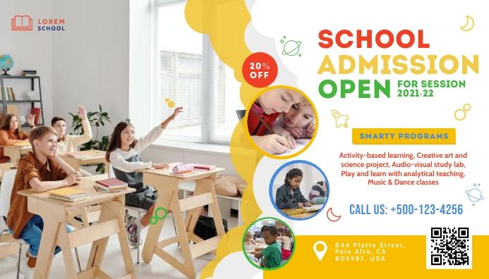Kids School Admission Blog Header Template