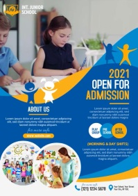 Kids School Admission Flyer A4 template