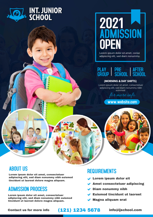 Kids School Admission Flyer Template | PosterMyWall
