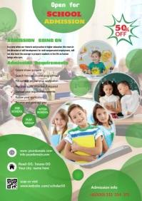 kids school flyers design A4 template