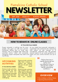 Kids School Newsletter Sample