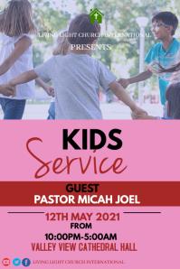Kids Service 海报 template