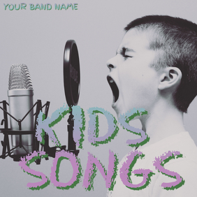 Kids Songs Album Cover template Albumhoes