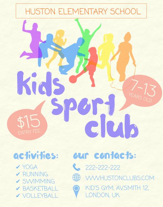 Kids Sports Club Flyer Template